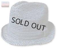 ★再入荷★GO HEMP ゴーヘンプ - RAFFIA CLASSIC HAT ブルー