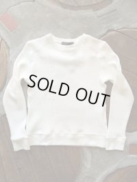 Upscape Audience オーディエンス - BIGワッフルクルーネック長袖ニットソー【MADE IN JAPAN】Off White