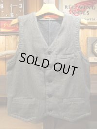 GO WEST ゴーウエスト ! WORK VEST/ C/W DRILL NEL GRAY 【MADE IN JAPAN】