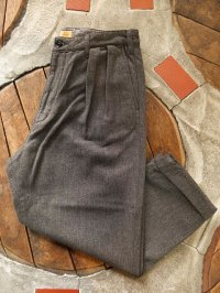 GO WEST ゴーウエスト - 2TAC CHINO PANTS/ C/W DRILL NEL GRAY 【MADE IN JAPAN】