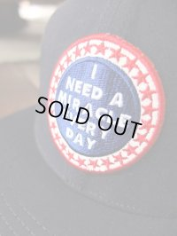 """GO HEMP ゴーヘンプ  - """"I NEED A MIRACLE EVERY DAY"""" MESH CAP NAVY"""