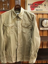 ORGUEIL オルゲイユ - Classic Work Shirt Khaki 【MADE IN JAPAN】