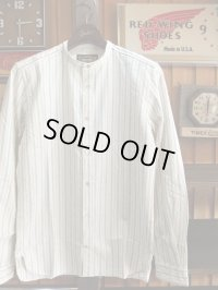 ORGUEIL オルゲイユ - Band Collar Shirt Stripe 【MADE IN JAPAN】