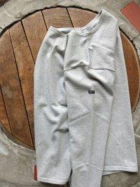 PHERROW'S フェローズ - バスクシャツ・ロンTee 杢グレー 【MADE IN JAPAN】