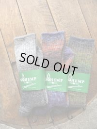 GO HEMP ゴーヘンプ - HEMP SPLASH PATTERN CREW SOCKS/×ANONYMOUSISM 【MADE IN JAPAN】