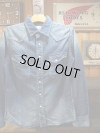 GO WEST ゴーウエスト - WYOMING SHIRTS/6oz DENIM USED WASH 【MADE IN JAPAN】