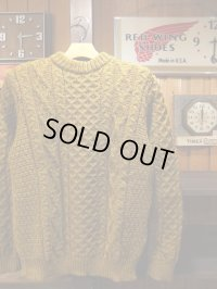 Kerry Woollen Mills ケリーウーレンミルズ - Aran Cable Crew Neck LITE Harvest 【MADE IN THE U,K】