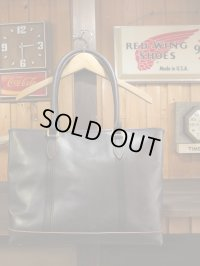 vasco ヴァスコ - LEATHER NELSON TOTE BAG BLACK 【MADE IN JAPAN】