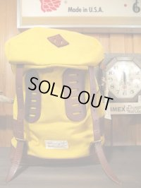 vasco ヴァスコ - NYLONCROSS×LEATHER OLD BACKPACK MUSTARD×CAMEL 【MADE IN JAPAN】