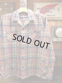 Upscape Audience オーディエンス - 70'sサーフチェックオープンカラーライト_Jacket Smoke Pink70S Surf Check 【MADE IN JAPAN】