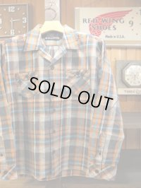 Upscape Audience オーディエンス - 70'sサーフチェックオープンカラーライト_Jacket Charcoal70S Surf Check 【MADE IN JAPAN】