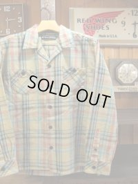 Upscape Audience オーディエンス - 70'sサーフチェックオープンカラーライト_Jacket Beige70S Surf Check 【MADE IN JAPAN】