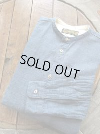 ORGUEIL オルゲイユ - Band Collar Shirt Blue 【MADE IN JAPAN】