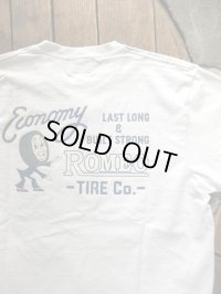 PHERROW'S フェローズ - ROMEO TIRE Tシャツ ホワイト