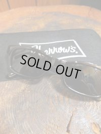 PHERROW'S フェローズ - ウェリントン型 サングラス ブラック/スモーク 【MADE IN JAPAN】