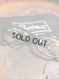 PHERROW'S フェローズ - ウェリントン型 サングラス ブラック/クリア 【MADE IN JAPAN】