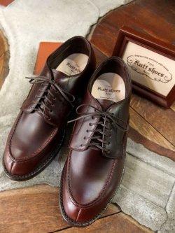 画像1: The Rutt shoes & co. ラッドシューズ - SPLIT V TIP OXFORD DK-Brown 【MADE IN JAPAN】