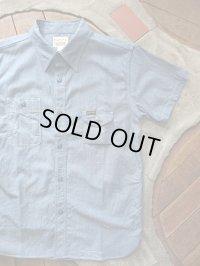 PHERROW'S フェローズ - 半袖ワークシャンブレーシャツ ブルーシャンブレー 【MADE IN JAPAN】