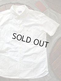 PHERROW'S フェローズ - プレーン ラウンドカラー 半袖 ボタンダウンシャツ ホワイト 【MADE IN JAPAN】