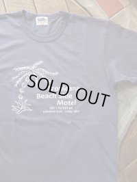"PHERROW'S フェローズ -  ""Tropicana Beach Side Motel""プリントTシャツ S,ネイビー 【MADE IN JAPAN】"