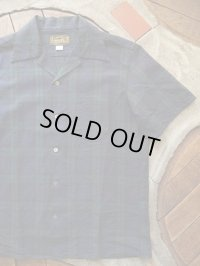 ORGUEIL オルゲイユ - Open Collared shirt Navy 【MADE IN JAPAN】
