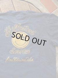 "PHERROW'S フェローズ - "" HILLESTAD SMILE ""プリントTシャツ S,ネイビー"