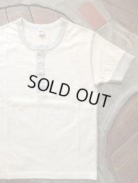 PHERROW'S フェローズ - ヘンリーネックTシャツ オートミール 【MADE IN JAPAN】