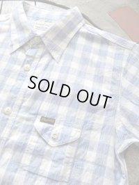 PHERROW'S フェローズ -  半袖ガーゼワークシャツ ブルーチェック 【MADE IN JAPAN】