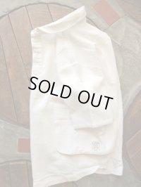 Ranch Standard ランチスタンダード - ガーゼスラブショールカラーラウンジシャツ WHITE