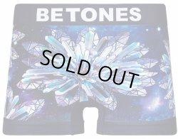 画像1: BETONES ビトーンズ ボクサーパンツ - GALAXY FLOWER ネイビー