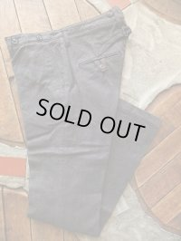 ORGUEIL オルゲイユ - Classic Low Waist Trousers Black 【MADE IN JAPAN】