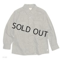 GOWEST ゴーウェスト - OUT OF BORDER SHIRTS/MATELASSE JACQUARD  OLIVE