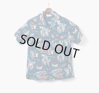 ORGUEIL オルゲイユ - Open Collared Shirt ネイビー
