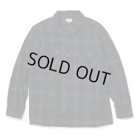 GOWEST ゴーウェスト -OUT OF BOEDER SHIRTS / WOOL CHECK NAVY