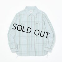 PHERROW'S フェローズ - オリジナルヘビーオンスネルシャツ Sax×Black check