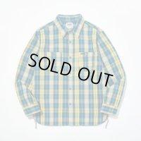 PHERROW'S フェローズ - オリジナルヘビーオンスネルシャツ Navy×Yellow check