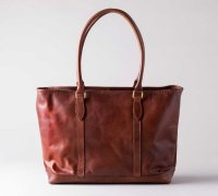 vasco ヴァスコ -  LEATHER NELSON TOTE BAG : camel