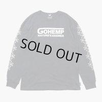GOHEMP ゴーヘンプ - NATURE'S ANSWER/LONG SLEEVE TEE/GUNMETAL GRAY CHOO