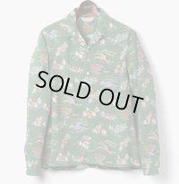 ORGUEIL オルゲイユ - Long Sleeve Aloha Shirt:Green