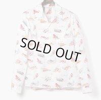 ORGUEIL オルゲイユ - Long Sleeve Aloha Shirt:Beige